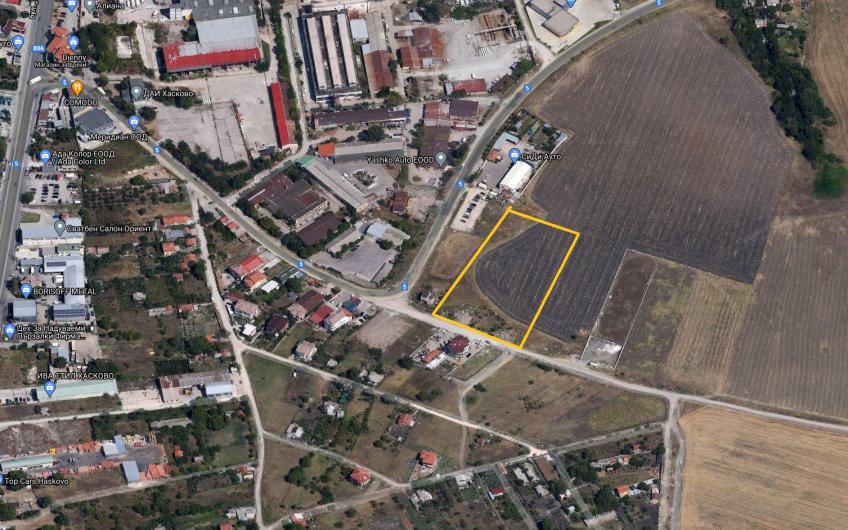 ИНВЕСТИЦИОНЕН ПАРЦЕЛ вЮжна Индустриална зона, гр. Хасково